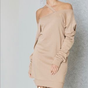 Missguided Distressed Sweatshirt Dress